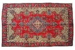 SEMIANTIQUE PERSIAN TABRIZ CARPET 78 X 1011