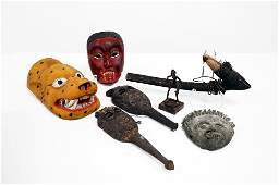 LOT 7 ASSORTED TRIBAL OBJECTS INCLUDING INDONESIAN