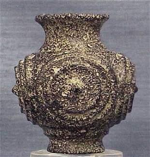 SASANIAN CUT GLASS BOTTLE, C.500/600AD