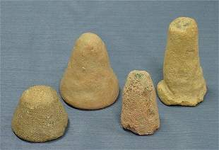 LOT (4) EGYPTIAN FUNERARY CONES, NEW LATE KINGDOM