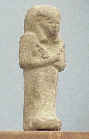 PALE GREEN FAIENCE USHAPTI, C.1200-715 BC