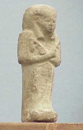 1010: PALE GREEN FAIENCE USHAPTI, C.1200-715 BC