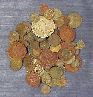 LOT ASSORTED ROMAN/BYZANTINE COINS AND OTHERS