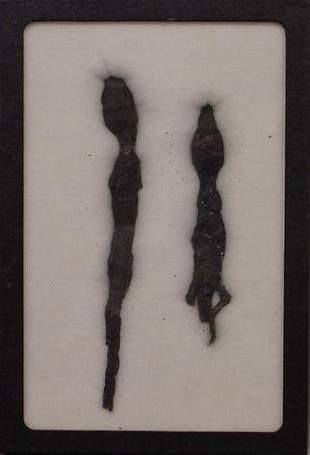 LOT (2) EGYPTIAN MUMMIFIED BABY CROCODILES