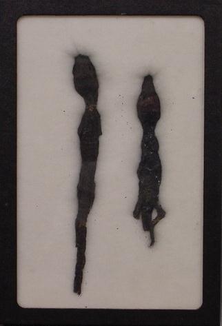 1017: LOT (2) EGYPTIAN MUMMIFIED BABY CROCODILES