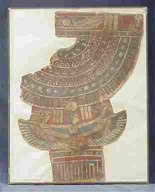 EGYPTIAN CATONNAGE BREAST PLATE, FRAGMENT, ROMAN
