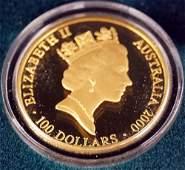 2000 AUSTRALIA .999 GOLD, 100 DOLLAR, SYDNEY