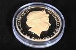 2000 AUSTRALIA 999 GOLD 100 DOLLAR SYDNEY
