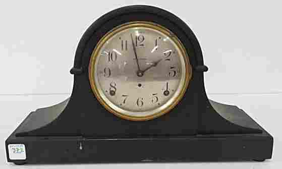 SETH THOMAS MAHOGANY MANTLE CLOCK, C.1920. HEIGHT 9