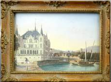 AUSTRIAN SCHOOL (19TH CENTURY), MINIATURE WATERCOLOR,