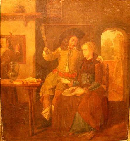 20: OIL ON BOARD, GENTLEMAN & WOMAN
