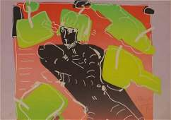 SERIGRAPH, ABSTRACT FIGURE, SIGNED MAX