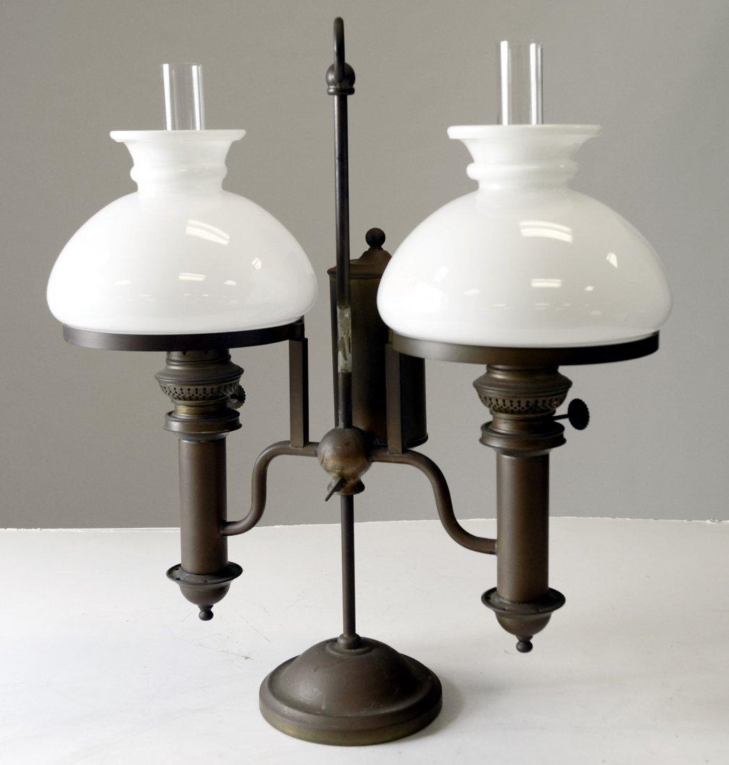 "VINTAGE STUDENT LAMP, 19TH CENTURY. HEIGHT 17 1/4"""