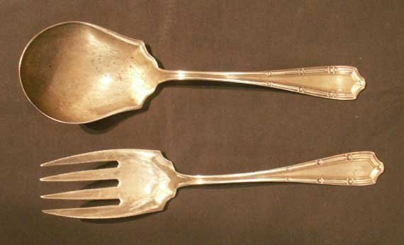"1005: PAIR ALVIN ""FRANCIS I"" STERLING FORK/SPOON"