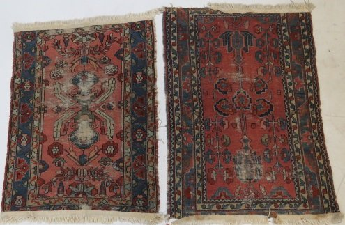 LOT (2) ANTIQUE PERSIAN MATS. APPROXIMATELY 29 X 42""