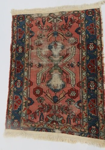 "LOT (2) ANTIQUE PERSIAN MATS. APPROXIMATELY 29 X 42"" - 2"