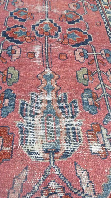 "LOT (2) ANTIQUE PERSIAN MATS. APPROXIMATELY 29 X 42"" - 8"