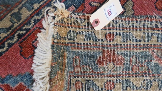 "LOT (2) ANTIQUE PERSIAN MATS. APPROXIMATELY 29 X 42"" - 9"
