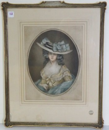 "AR EDWARDS (BRITISH ), ENGRAVING WITH AQUATINT, ""MISS"