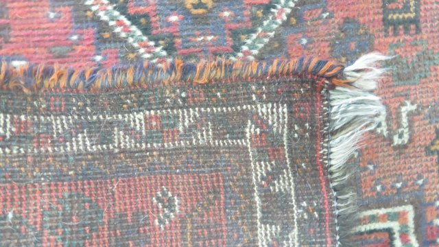 (2) ANTIQUE ORIENTAL RUGS. APPROX. 3 1/2 X 5'; 3 X 4' - 4