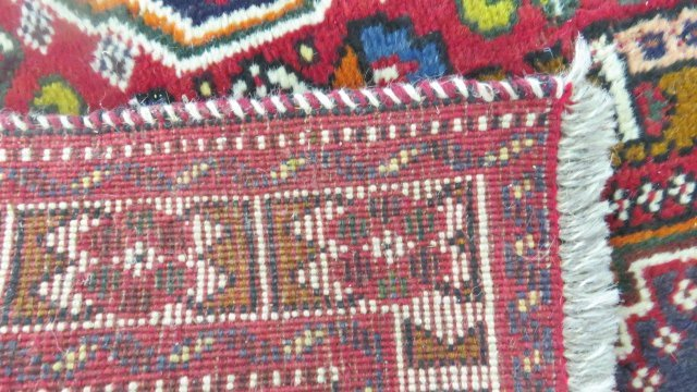 (2) ANTIQUE ORIENTAL RUGS. APPROX. 3 1/2 X 5'; 3 X 4' - 7