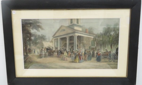 EDWARD LAMSON HENRY (AMERICAN/NY 1841-1919), PRINT,