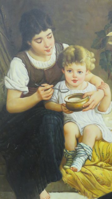 AMERICAN SCHOOL (20TH CENTURY), OIL ON CANVAS, CHILDREN - 2