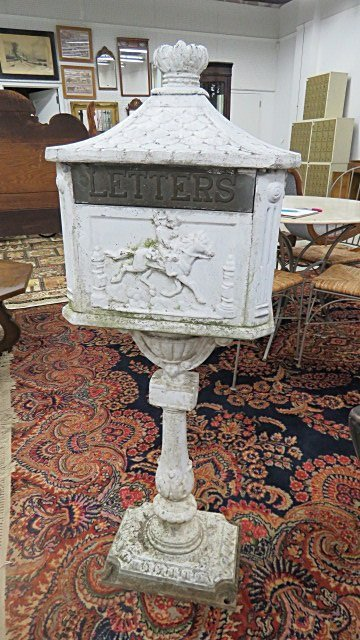 CAST METAL MAILBOX. HEIGHT 47""