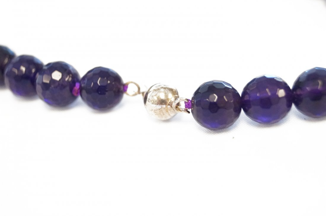STRAND (46) 9.63MM-10.18MM FACETED AMETHYST BEADS WITH - 3