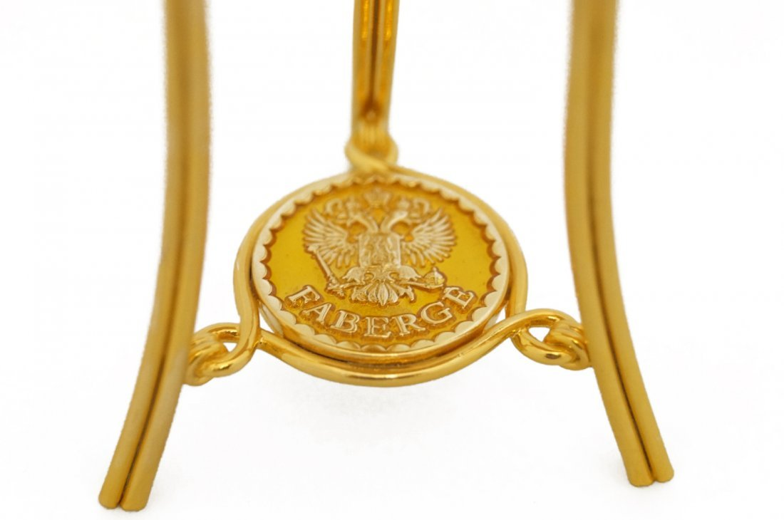 RUSSIAN FABERGE/LIMITED E EDITION YELLOW GUILLOCHE - 5