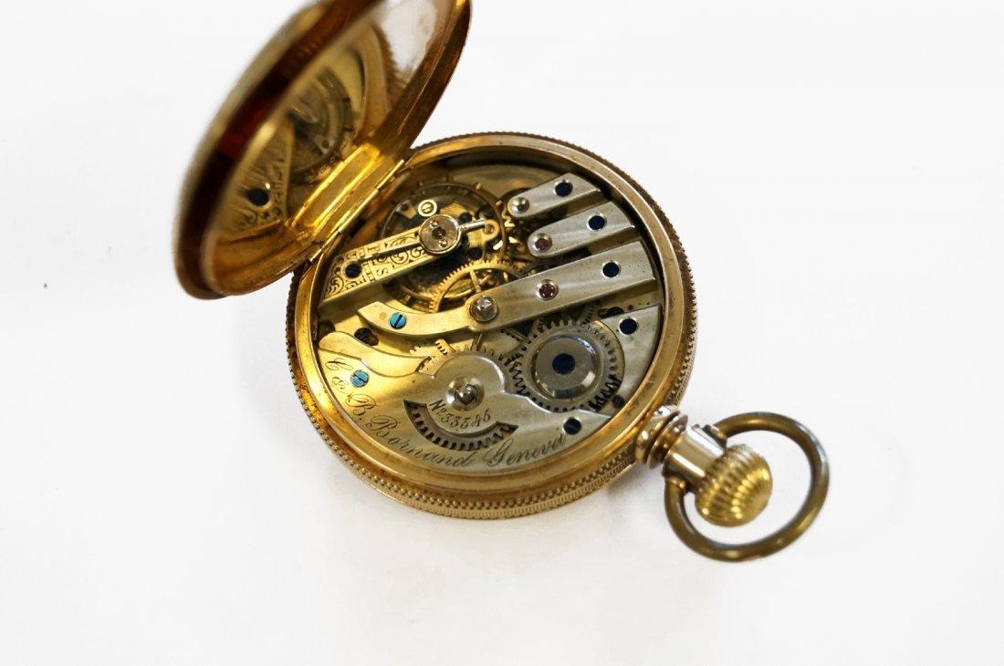 LOT (2) VINTAGE GOLD FILLED POCKET WATCHES INCLUDING C - 4