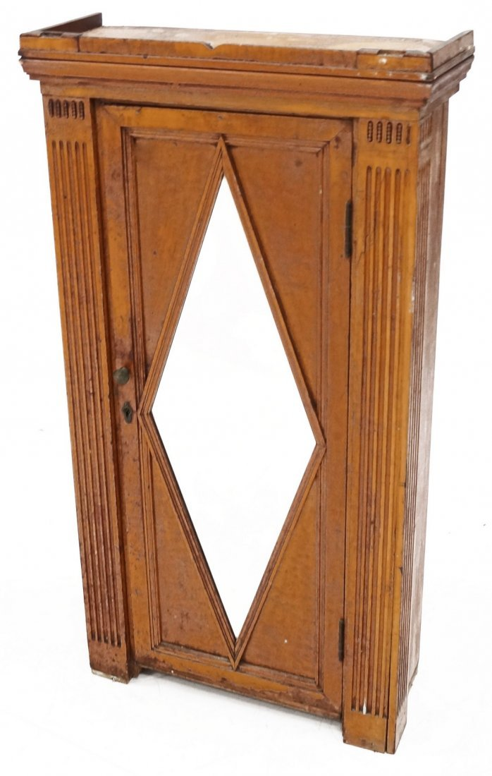 CONTINENTAL CARVED FRUITWOOD MIRRORED DOOR HANGING