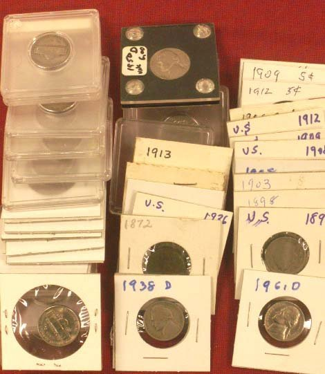 2004: LOT (38) ASSORTED U.S. NICKEL COINS