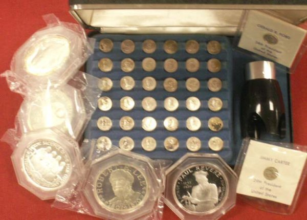2014: LOT STERLING COMMEMORATIVE MEDALLIONS