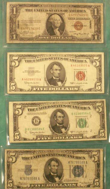 2015: LOT (4) ASSORTED U.S. CURRENCY