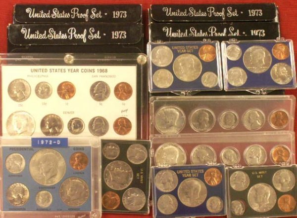 2022: LOT (13) ASSORTED U.S. PROOF COIN SETS