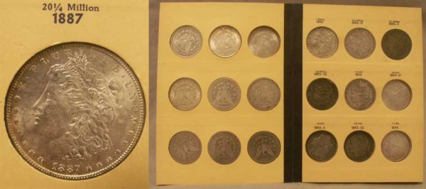 2073: BOOK (27) 1887-1897 MORGAN DOLLAR COINS
