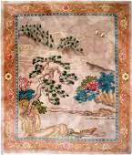 CHINESE CARVED LANDSCAPE CARPET 8 X 10