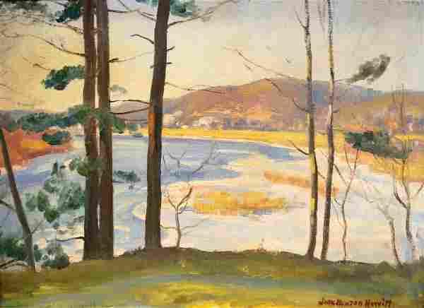 JOHN NEWTON HOWITT (AMERICAN 1885-1958), OIL ON CANVAS