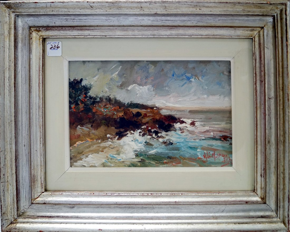 ITALIAN SCHOOL (20TH CENTURY) OIL ON PANEL, COASTAL - 2