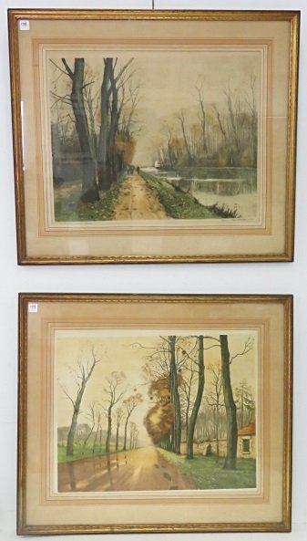 FRENCH SCHOOL (20TH CENTURY), LOT (2) LITHOGRAPHS,