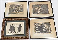 LOT 4 ASSORTED LITHOGRAPHS INCLUDING WILLIAM GROPPER