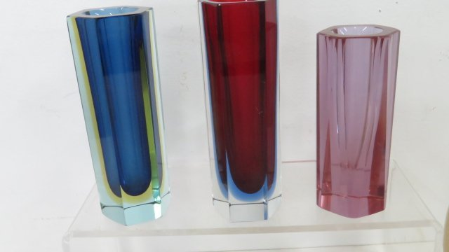 LOT (6) ART GLASS INCLUDING MURANO AND ORREFORS - 2
