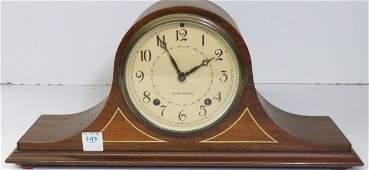SETH THOMAS INLAID MAHOGANY MANTLE CLOCK HEIGHT 8