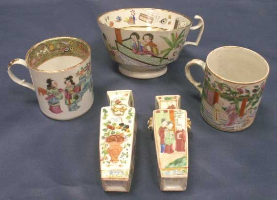 5: LOT (5) CHINESE EXPORT PORCELAINS