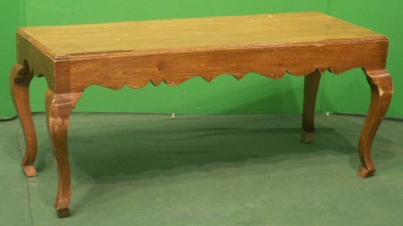 7: ITALIAN CARVED WALNUT LOW TABLE/BENCH