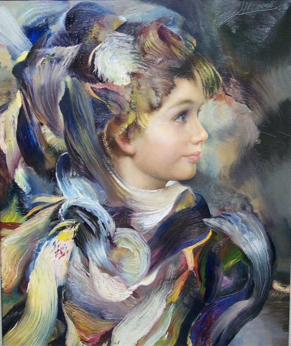 16: OIL ON CANVAS, PORTRAIT OF A YOUNG BOY, MASSERIA