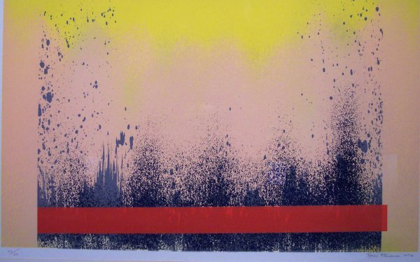 19: SERIGRAPH, ABSTRACT, SIGNED BRIAN HENDERSON