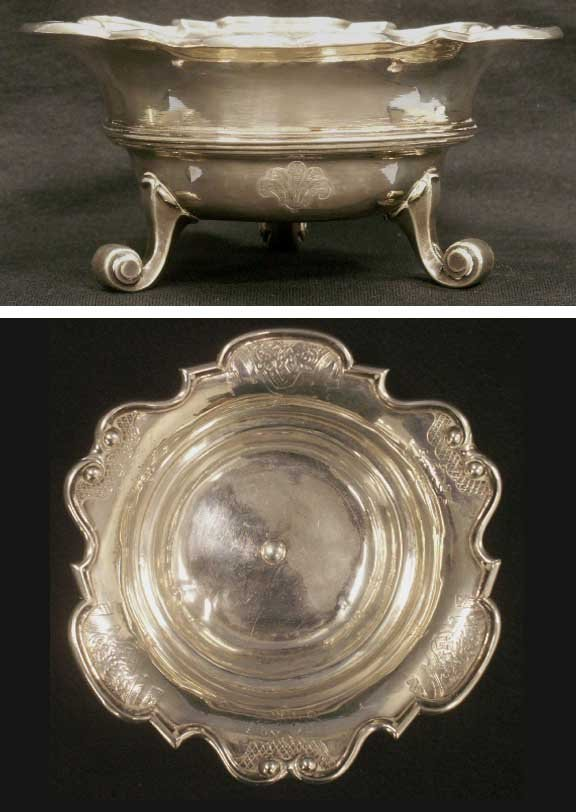 69: CONTINENTAL SILVER FOOTED COMPOTE