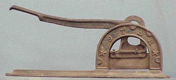 "2024: CAST IRON ""STAR"" TOBACCO CUTTER, 19TH CENTURY"